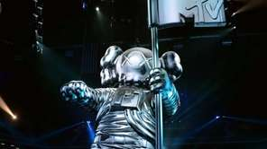 The 2013 Moonman, designed by artist KAWS, on