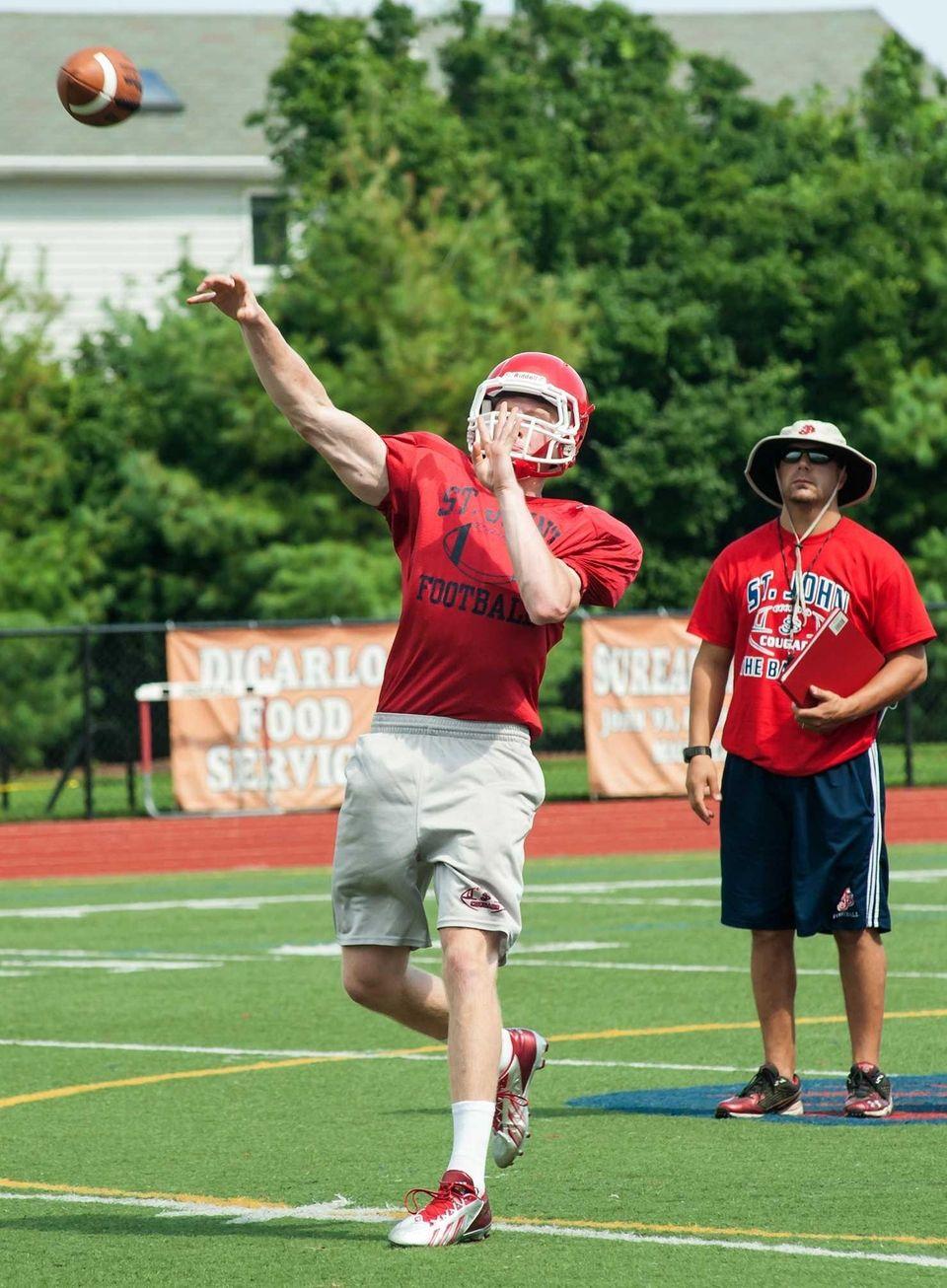 Saint John the Baptist's Matt Brady throws a