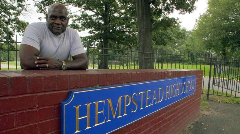 Hempstead High School principal Reginald Stroughn, who retired