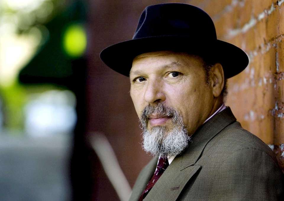 Pulitzer Prize-winning playwright August Wilson poses during a