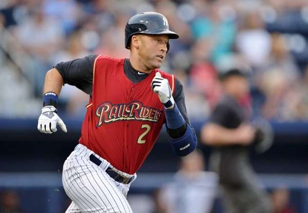 Yankees' Derek Jeter, playing for the Scranton/Wilkes-Barre RailRiders