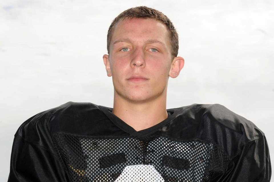 Plainedge High School quarterback Nick Frenger poses for