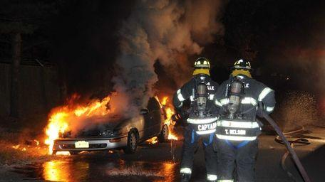 Suffolk County police arson investigators are investigating a