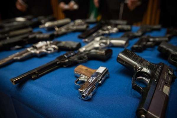 Guns seized by the New York Police Department