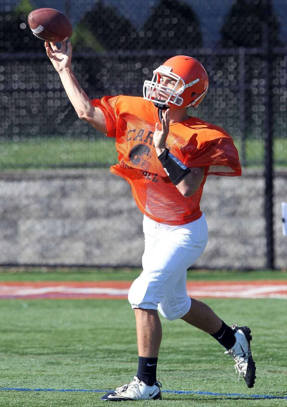 QB Ray Catapano (10) with the pass at