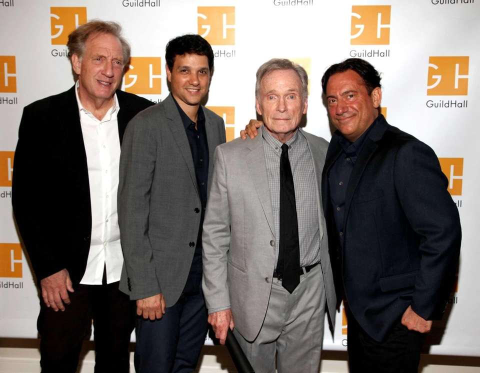 Alan Zweibel, Ralph Macchio, Dick Cavett and Eugene