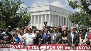 Rep John Lewis, Rev Al Sharpton, Nancy Pelosi