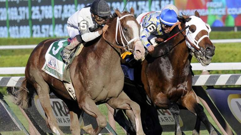 Will Take Charge, left, with jockey Luis Saez