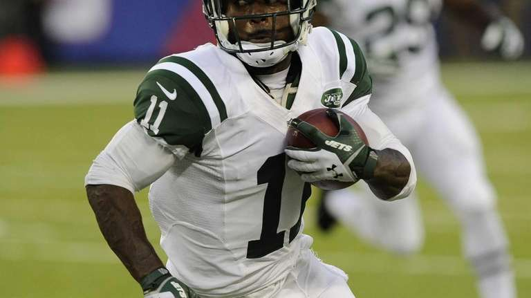 Jets wide receiver Jeremy Kerley runs with the