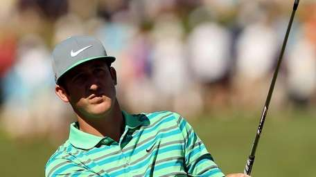 Kevin Chappell of the United States hits his