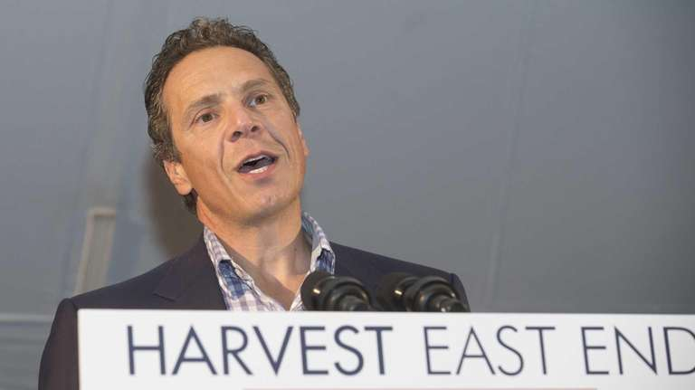 Governor Andrew Cuomo speaks at the Harvest East