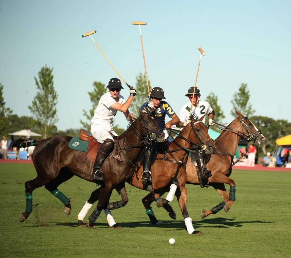 Polo players battle it out in the final