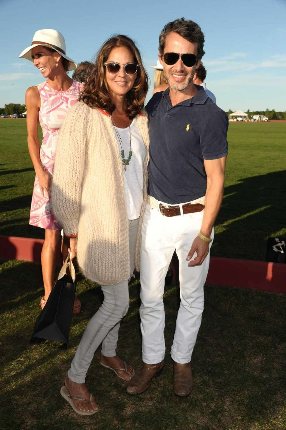 Kelly Klein and actor Andrew Lauren attend the