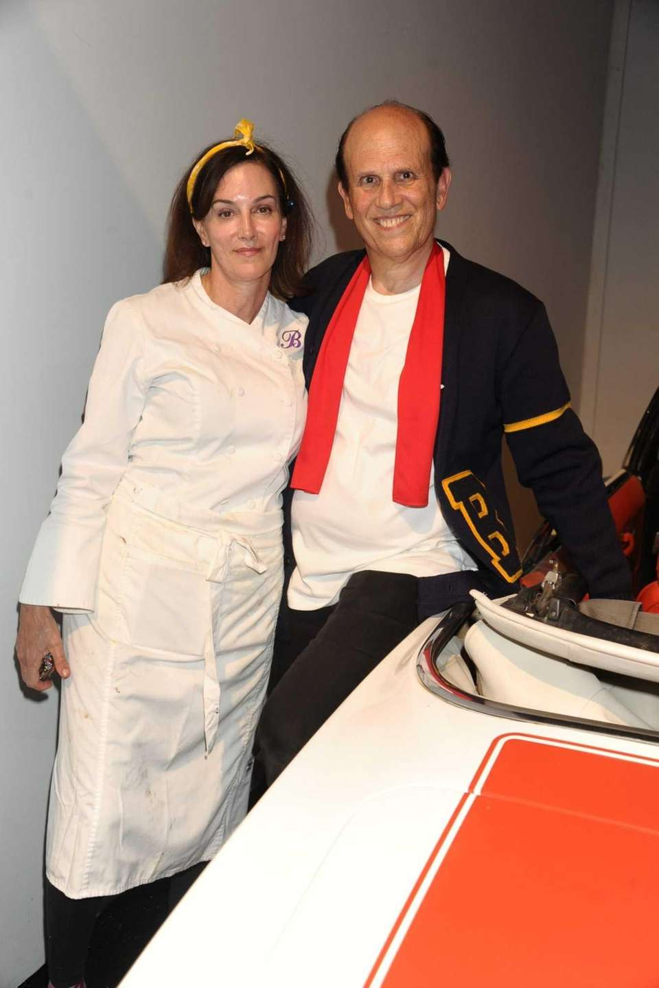 Chef Beth Ginsberg and Michael Milken attend the