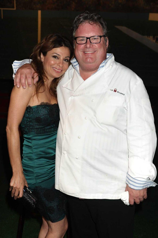 Rebecca Woodland and chef David Burke attend the