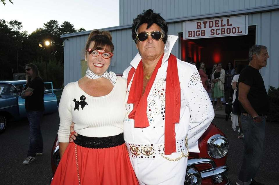 Maria Fuschi and Elvis impersonator Arthur Stein put