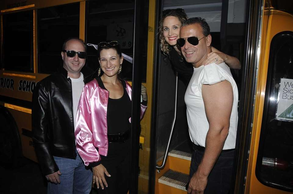 From left, Howard and Remy Schwartz and Debra