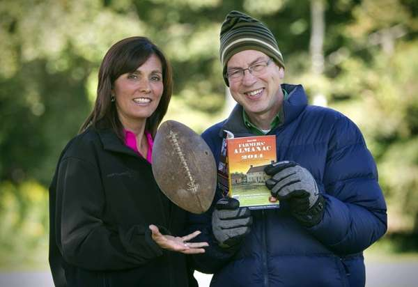 Farmers' Almanac managing editor Sandy Duncan, left, and