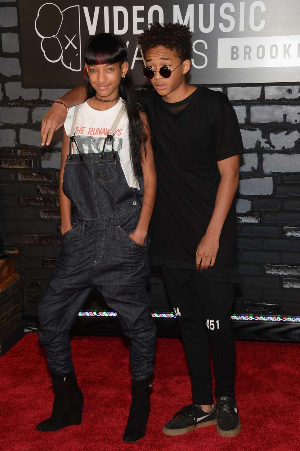 Siblings Willow and Jaden Smith attend the 2013