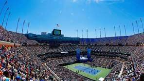 A general view of Arthur Ashe Stadium is