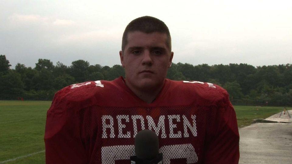 East Islip High School football player Connor McDaniel.
