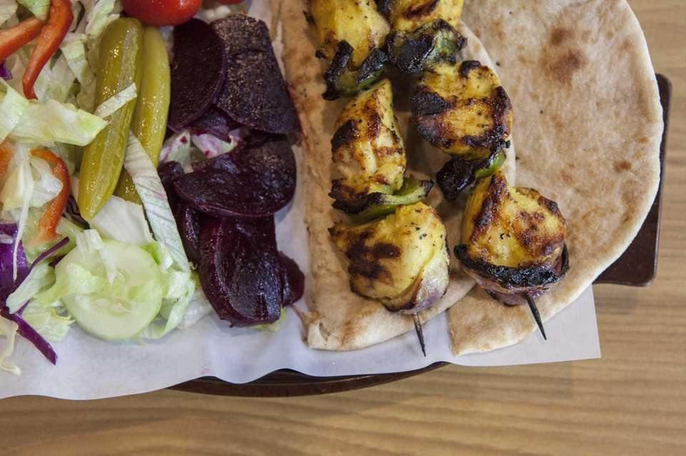 The chicken kebab at Tasty American Coo Coo