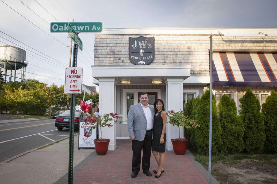 Owners Bill and Mary Terzi outside of JW's