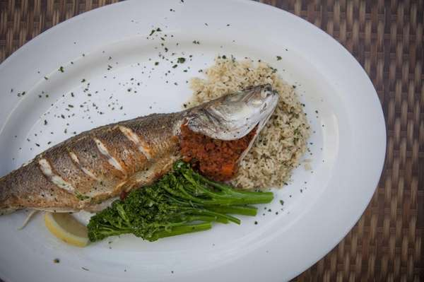 The whole, roasted branzino deserves its
