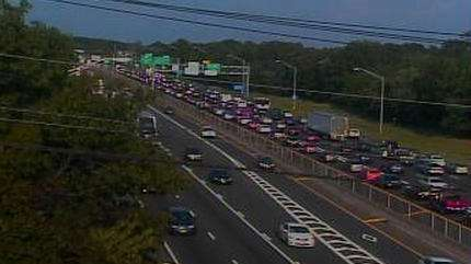 An image from a traffic camera at Exit