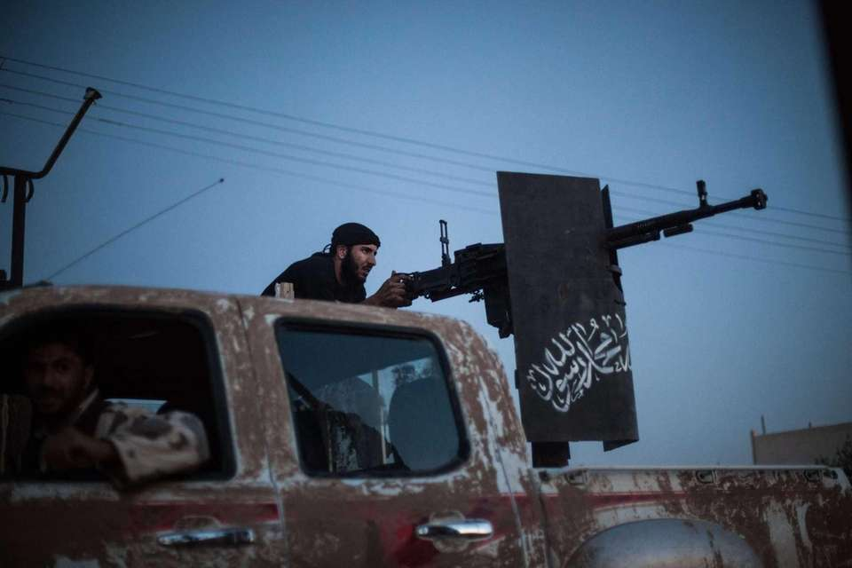 A member of the Islamist Syrian opposition group