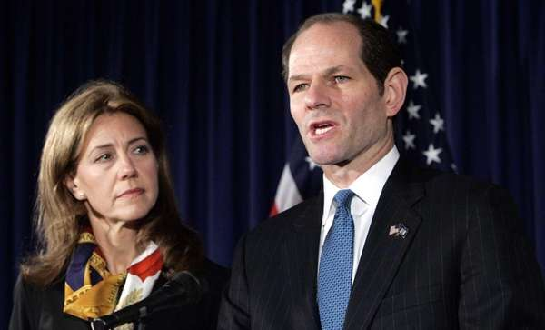 Former New York Gov. Elliot Spitzer announces his
