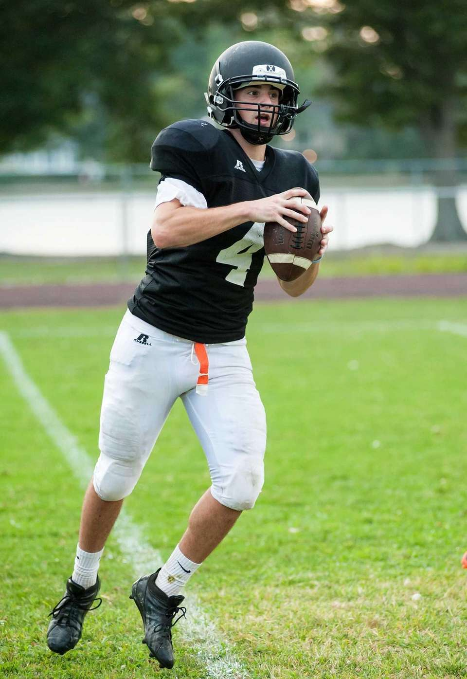 Babylon's Nick Santorelli during practice. (Aug. 26, 2013)