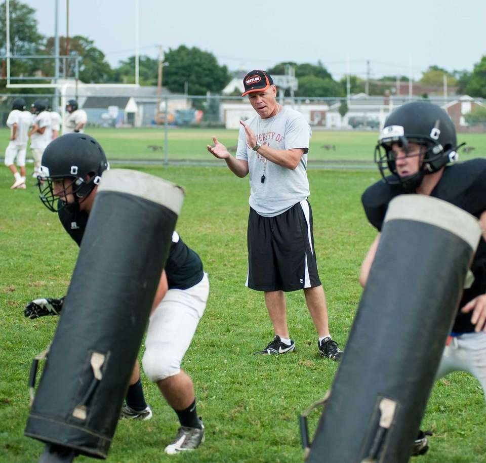 Babylon head coach Rick Punzone during training camp.