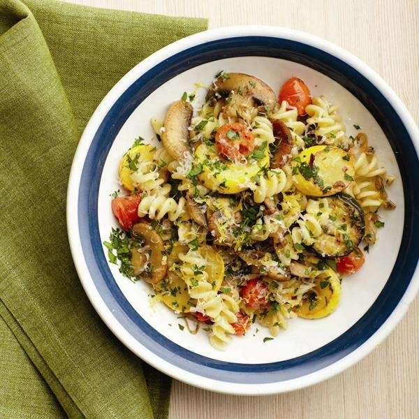 The Pasta primavera recipe can be found in