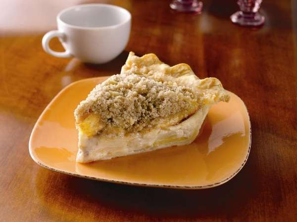 The sour cream apple pie recipe can be
