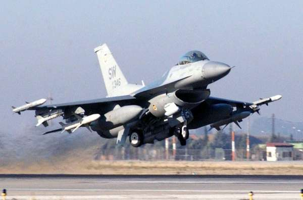 An F-16CJ Fighting Falcon takes off from Incirlik
