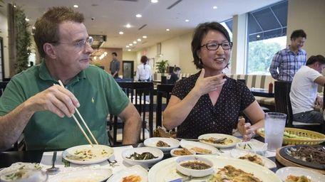 Haeryun Choi and her husband Dennis Mazzocco share