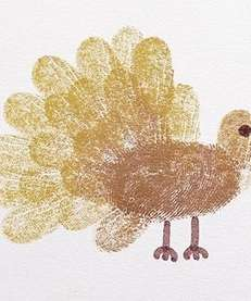 The turkey thumbprint card craft can be found