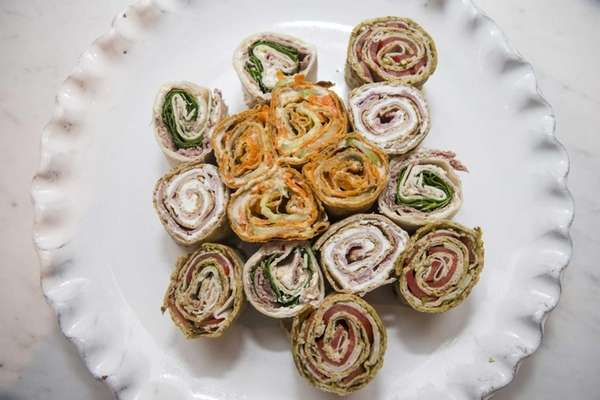 Pinwheel sandwiches are easy to pack in school