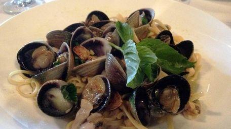 At Verona in Farmingdale, linguine with clam sauce