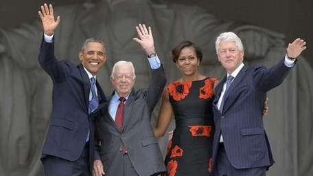 Obama, former president Jimmy Carter, First Lady Michelle