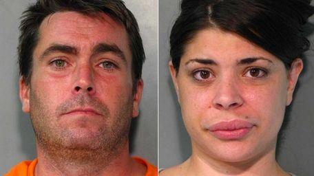 John Gleeson, 39, left, and Melissa Bizelia, 32,