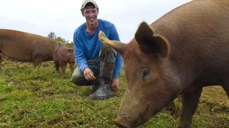 Tom Hart, of Deep Roots Farm in Orient,