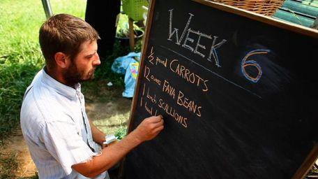 Sean Pilger, of Hamlet Organic Garden in Brookhaven,
