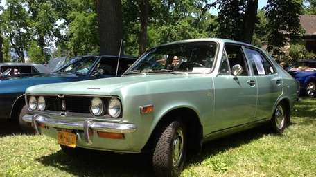 The 1972 Plymouth Cricket owned by Rick Nossa.