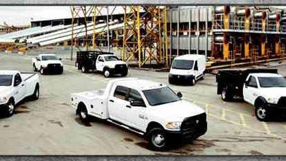 The Ram commercial fleet is pictured. The relationship