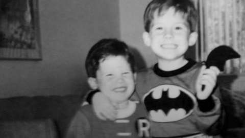 Jim and Tom Knudsen, ages 2 and 5,