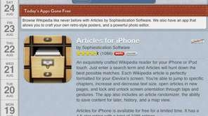 Apps Gone Free is an app that each