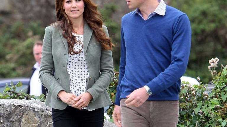 Britain's Prince William, Duke of Cambridge and Catherine,