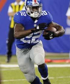 Giants running back David Wilson (22) rushes during